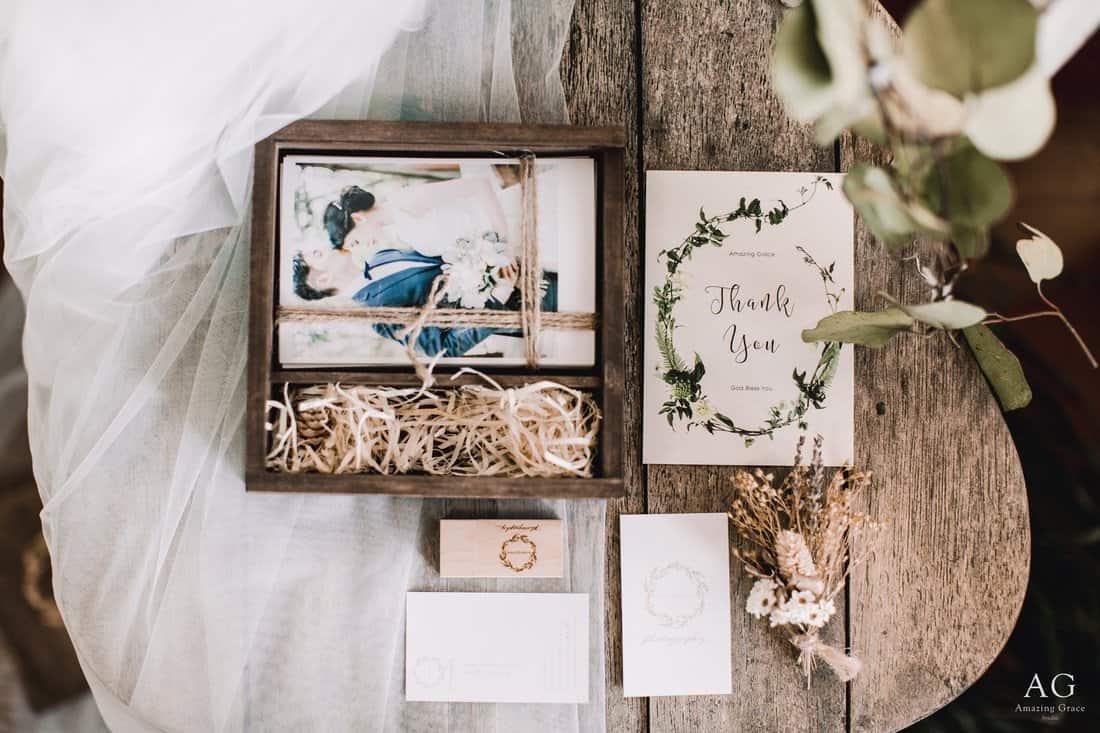 AG 婚紗木盒成品