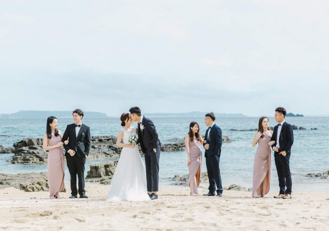 在沖繩的海邊舉行令人嚮往的 美式婚禮,美式婚禮攝影