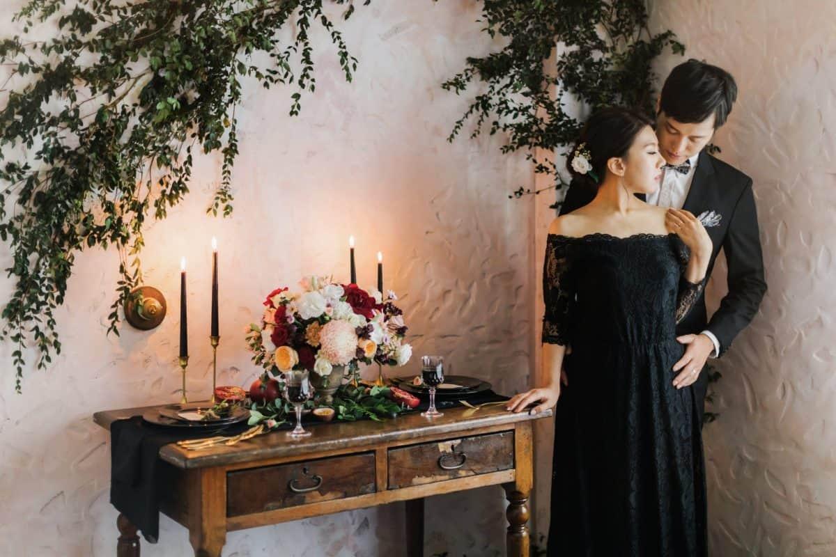 黑色 婚紗,美式婚紗,台中 美式婚紗, AG 婚紗